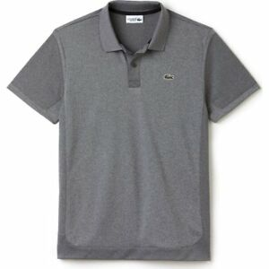 00d90ff1d2 Lacoste Two Tone Heather Men's Polo Shirt Silver Chine/Black - Size ...