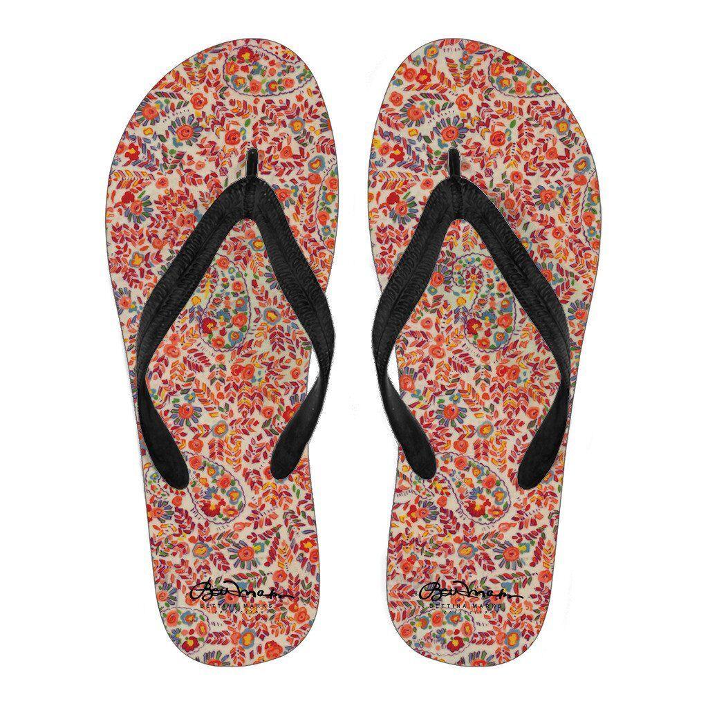 Man's/Woman's Retro resistant Paisley Flip Flops Wear resistant Retro Impeccable Fashion versatile shoes d23e08