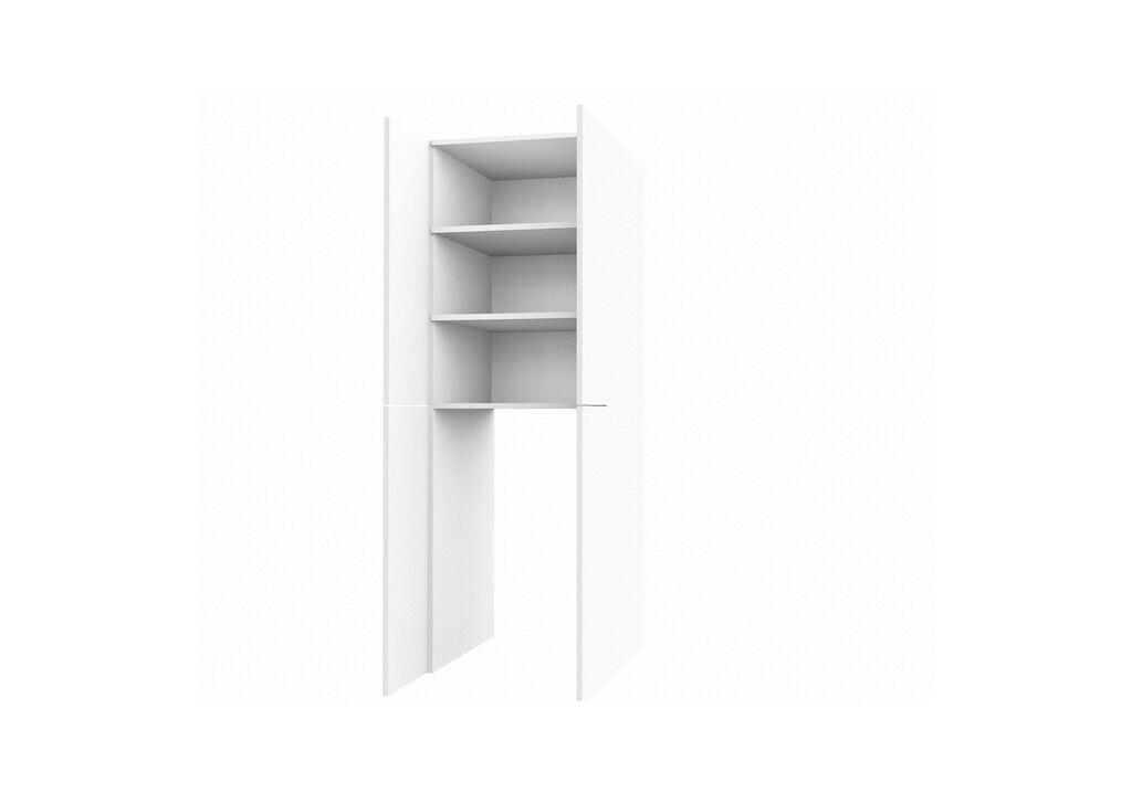 Armario alto lavadoras-transformación 2 puertas 6 muebles superficies 70x70x205cm