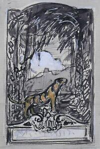 Georges-Francois-1880-1968-Tigre-Africa-Orientalismo-Antille-Laurens-Art-Deco