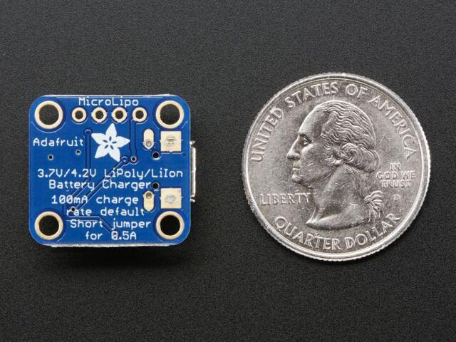 Adafruit Micro Lipo w/MicroUSB Jack - USB LiIon/LiPoly charger [ADA1904]
