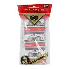 Sony MC60 Microcassette Blank Cassette Tape Disc 60 Min 3 Pcs