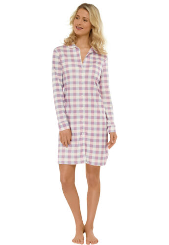SCHIESSER Damen Nachthemd 95 cm Sleepshirt Langarm 38 40 42 44 46 48 50 100/% CO