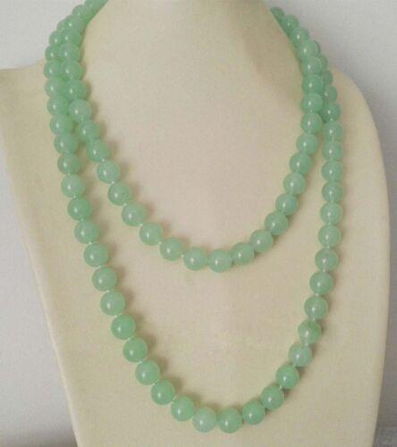 "Fashion 8//10//12mm Vert naturel jade Pierres Précieuses Perles Rondes Colliers 36/' /""AAA"