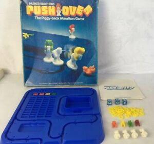 Push-Over-The-Piggy-Back-Marathon-Game-Parker-Brothers-1981-Complete-2-Players