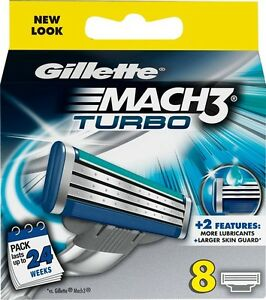 Gillette-Mach3-Turbo-Men-039-s-Razor-Blade-Refills-8-Cartridges
