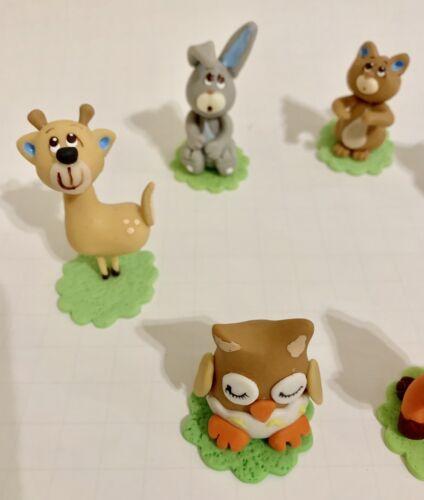 3D Woodland Set.Cake Topper.