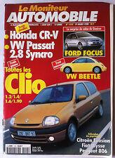 Le moniteur Automobile 19/03/1998; Salon de Genève/ Toutes les Clio/ Honda CR-V