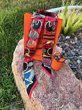 HERMES silk Twill Multi Color Authentic Twilly Scarf Wrap 100% Silk All Styles