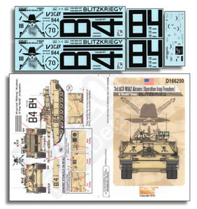 Decals for 1/16 3rd ACR M1A2 Abrams (Operation Iraqi Freedom)