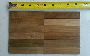 Natural Teak Mosaic Teakwood Tile Floor Dollhouse Backsplash Wall