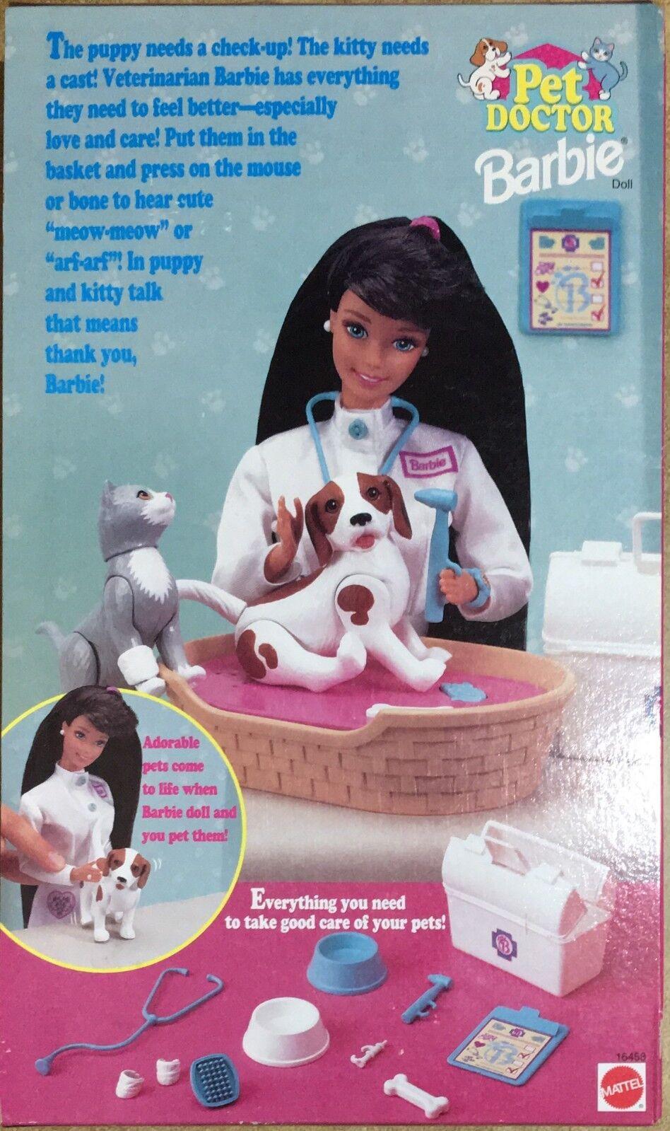 Barbie Mattel Pet Doctor Brunette -Veterinaria Vintage Vintage Vintage 96' RARA 608505