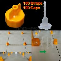 Professional Tile Leveling System Base Cap Spacer Flooring Strap Device Tool Us