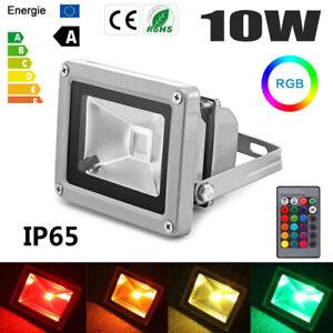 LED Fluter Außen Strahler Flutlicht Scheinwerfer RGB Lampe IP65 Garten 10W-400W#