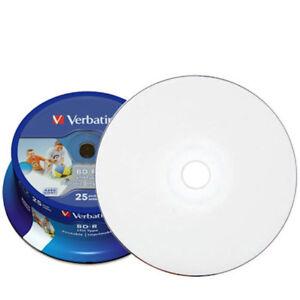 25x-Verbatim-Blu-ray-Rohlinge-BD-R-25-GB-full-printable-bedruckbar-6x-43811