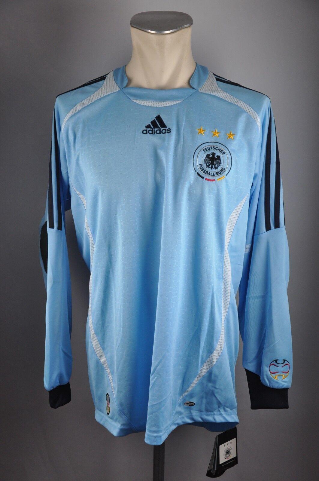 Deutschland Trikot Gr. M Adidas Jersey 2006 WM Torwart DFB Germany blau EM