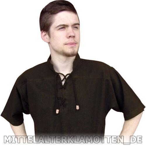 6 Fb kurzärmelig Sommer Mittelalter Mittelalterhemd Hemd kurzarm Baumwolle 6Gr