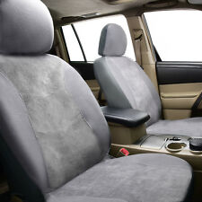 front pair car seat covers corduroy washable warm van SUV grey flying banner