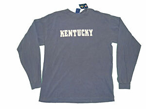 Kentucky wildcats adult blue embroidered heavy weight long sleeve