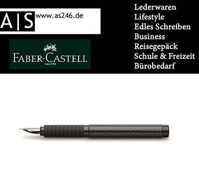 FABER-CASTELL Füllhalter Essentio Black Carbon Federstärke M mittel