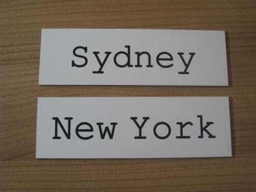 New York Länder Uhr Schild Tokyo inkl Uhrenschild Weltuhr London Gravur
