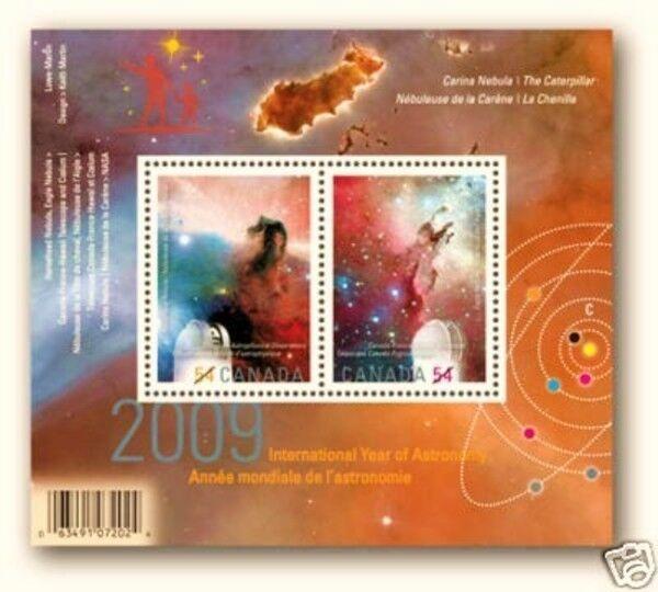 Canada 2009 Int. Year of Astronomy Souvenir Sheet Overprint (#2323c) MNH !