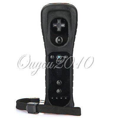New Wireless Remote Controller Set for Nintendo Wii/Wii U Game +Case strap Black