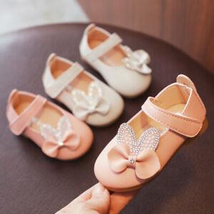 Infant-Toddler-Kids-Baby-Girl-Crystasl-Bowknot-Bling-Princess-Shoes-Sandals-UK