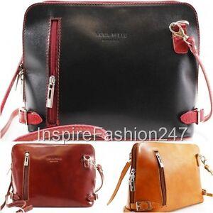 Image Is Loading Women Designer Handbag Real Italian Leather Shoulder Crossbody