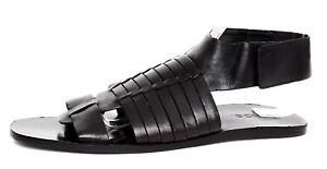 Vince 1160 van Sz 5m Zwarte dameslederen sandalen 9 eD9IY2HWbE