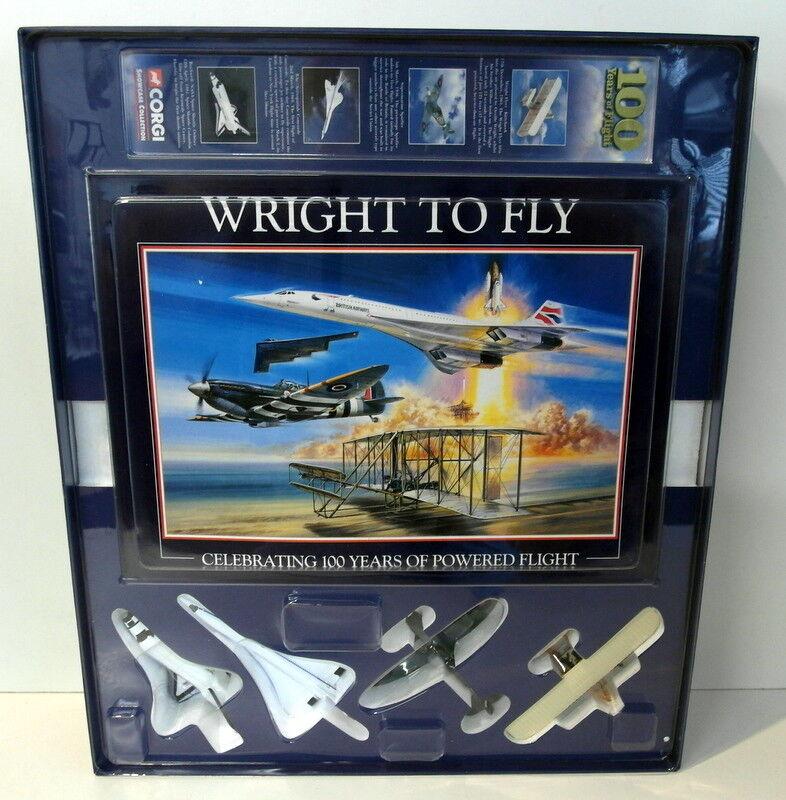marca de lujo Corgi Small Scale Scale Scale Diecast - CSCA03005 100 Years of Flight Spitfire Concorde etc  descuentos y mas