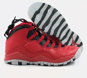 660fc9ba5d18 Nike Air Jordan 10 X Retro BG GS Bulls Over Broadway Red Black ...