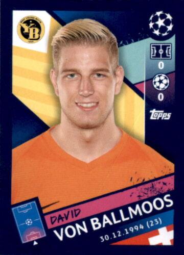 David von Ballmoos Topps Champions League 18//19 Sticker 548
