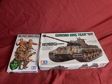 1/35 2 Lot Tamiya German Tiger II Porsche Turret & 5 Front Line Infantry Troops