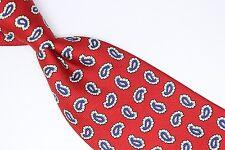 The Custom Shop Shirtmakers Silk Neck Tie Red Blue White Paisley Print Classic
