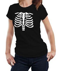 fbe2b6fc1df22 Image is loading Skeleton-Chest-Halloween-Xray-Bones-Ribs-Costume-Women-