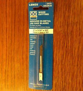 """Jigsaw LENOX Bimetal 20 TPI Wood scroll fine cutting laminate 3/"""" U-Shank US320JC"""