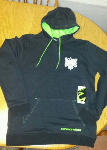 """NWT Men/'s CANNONDALE /""""The Good Fight/"""" Hoodie Black//Green Size MEDIUM"""