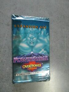 OVERPOWER CARD GAMES  POWERSURGE - BUSTINA CHIUSA  - EXPANSION SET - MARVEL 1995