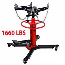 A1660lbs 075ton Transmission Jack 2 Stage Hydraulic With 360 For Car Auto Lift