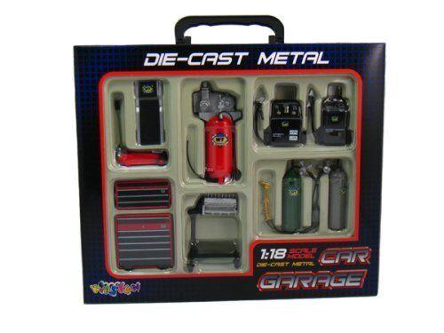 Die-cast Metal Car Garage Accessories 1 18 Scale by KinsFun