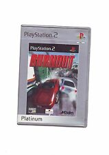 BURNOUT 1 - SONY PS2 GAME / 60GB PS3 COMPATIBLE - FAST POST COMPLETE WITH MANUAL