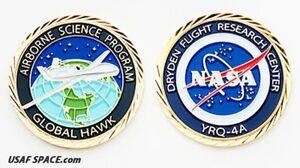 AIRBORNE-SCIENCE-NASA-DRYDEN-RESEARCH-GLOBAL-HAWK-ORIGINAL-COIN-MEDALLION