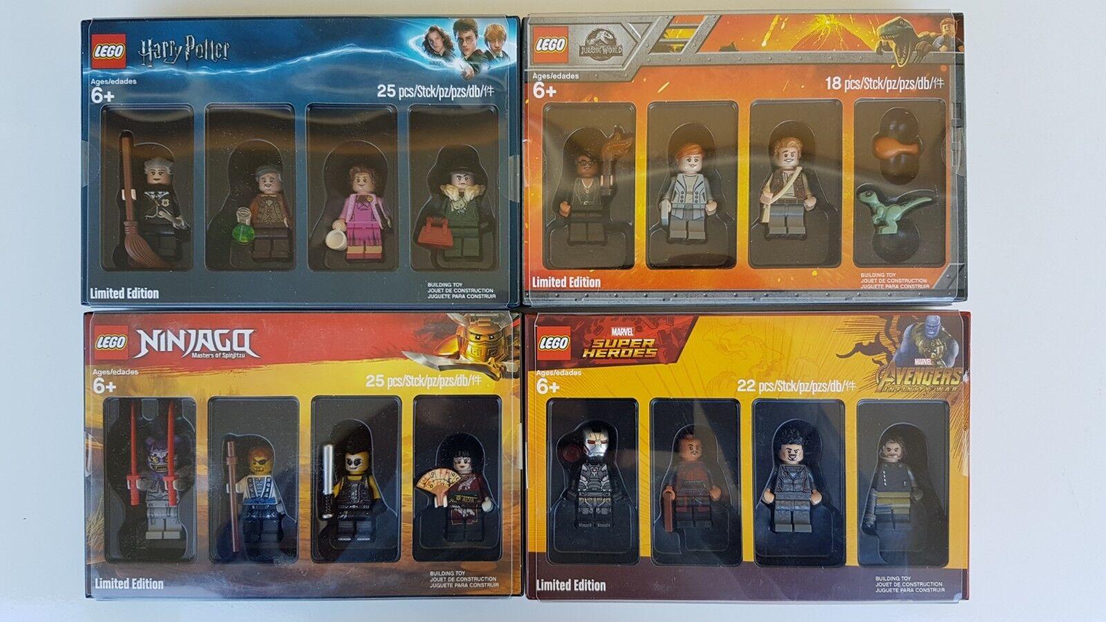 Lego Bricktober 2018 alle 4 Sets Harry Potter Avengers Jurassic Welt Ninjago