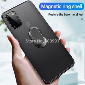 Fundas For UMIDIGI A7S Smart Phone 6.53 Case Cover Finger Ring Magnet Matte