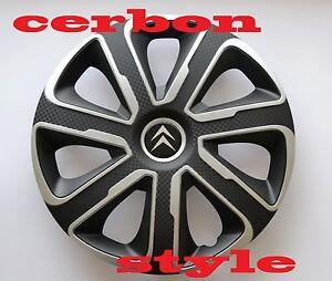 "4x Wheel Trims Hub Caps 14/"" Covers fits Citroen C1 C2 C3 C4 Saxo"