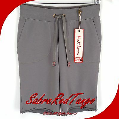 NWT HANNA ANDERSSON WOMEN'S FRENCH TERRY OSLO SHORTS STEEL GRAY XS 2