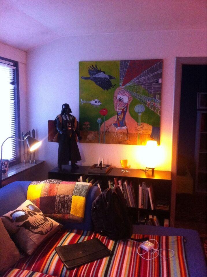 Akrylmaleri, Lisbeth Aare, motiv: Fantasy