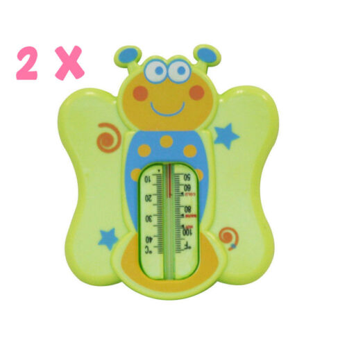 Months Funny Designs Safe Temperature 2 x Baby Bath Thermometer 0