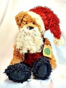 "Boyds 1999 Holiday Yule Father Christmas Red White Beard 18"" Jointed Teddy Bear"